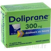 Doliprane 300 Mg Poudre Pour Solution Buvable En Sachet-dose B/12 à MIRANDE