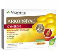 Arkoroyal Dynergie Ginseng Gelée Royale Propolis Solution Buvable 20 Ampoules/10ml à MIRANDE