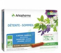 Arkofluide Bio Ultraextract Solution Buvable Détente Sommeil 20 Ampoules/10ml