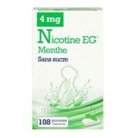 Nicotine Eg 4 Mg Gomme à Mâcher Médicamenteuse Sans Sucre Menthe édulcorée à L'acésulfame Potassique Et Saccharine Plq/108 à MIRANDE