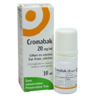 Cromabak 20 Mg/ml, Collyre En Solution à MIRANDE