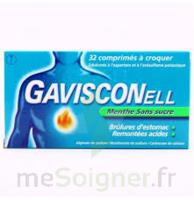 Gavisconell Coprimés à Croquer Sans Sucre Menthe édulcoré à L'aspartam Et à L'acésulfame Potas Plq/24 à MIRANDE