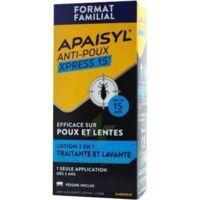 Apaisyl Anti-poux Xpress 15' Lotion Antipoux Et Lente 100ml+peigne à MIRANDE